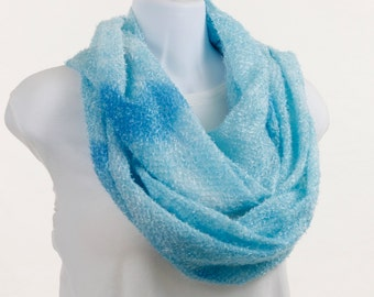 Long Infinity Scarf - Playful  Aquamarine FUN and Trendy ~ SH161-L1