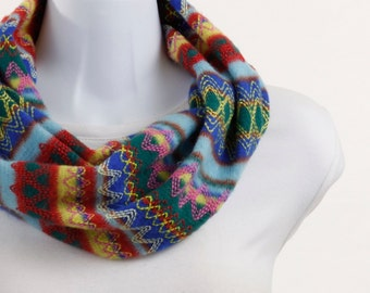 Trendy Infinity Scarf - Multicolored Sweater Knit - Super Soft ~ WL017-S5