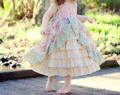 Tea Party/Princess Dress - size 5 to size 8- Custom order (dress only, blouse addtional)