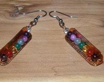 Chakra Peapod Earrings - Copper