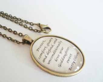 CUSTOM quote necklace, your OWN quote, oval setting brass or silver, custom jewelry, custom necklace, quote jewelry