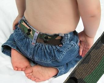"""Toddler Belt - Elastic Snap Belt - """"Camouflage"""""""