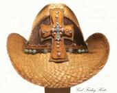 Rustic Beauty - Western Cross Cowgirl Hat