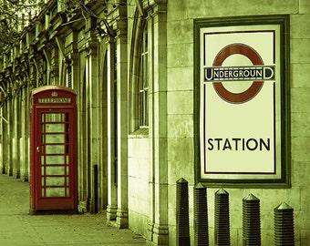 London photography, large London art print, travel photo - The Tube