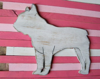 French Bulldog Sign Wall Art Wood Frenchie Dog Sign