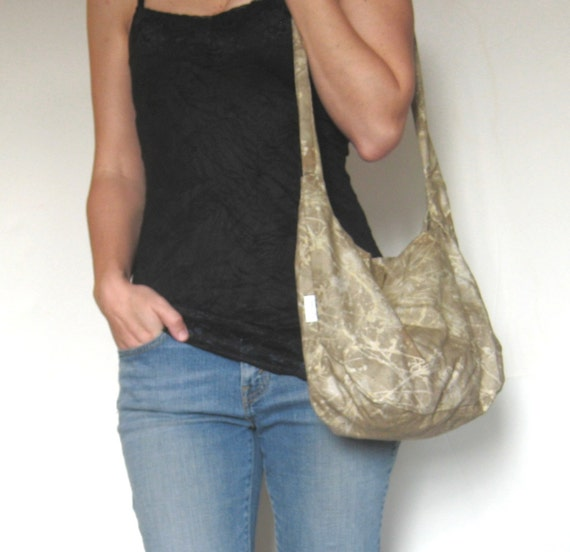 Hobo Bag. Large Purse. CLEARANCE. Modern Diaper Bag. Slouch Bag. Autumn Fashion Accessory. tan brown khaki gold harvest