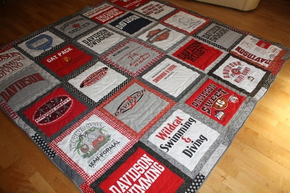 Items Similar To Custom T Shirt Quilt Made From College