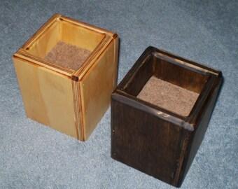 furniture risers 4 inch all wood construction unfinished. Black Bedroom Furniture Sets. Home Design Ideas