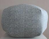 "24"" Ottoman Pouf Floor Pillow Cameron Chevron Zig Zag"