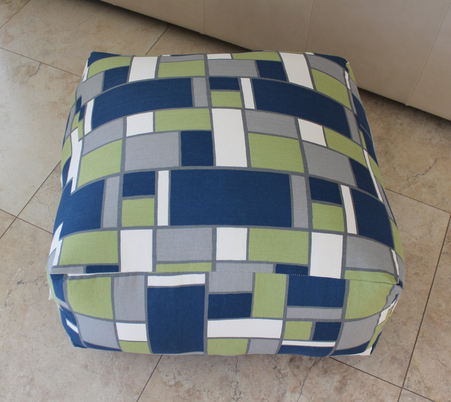 Square Pouf Floor Pillow Hopscotch by aletafae on Etsy