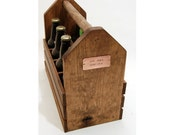 Personalized - EIGHT PACK - SHORTNECK - Handcrafted 8 pack Wood 12 oz Beer Bottle Carrier - Homebrew/ Microbrew - Handcrafted