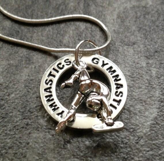 Gymnastics Necklace: Silver Gymnast Charm Necklace