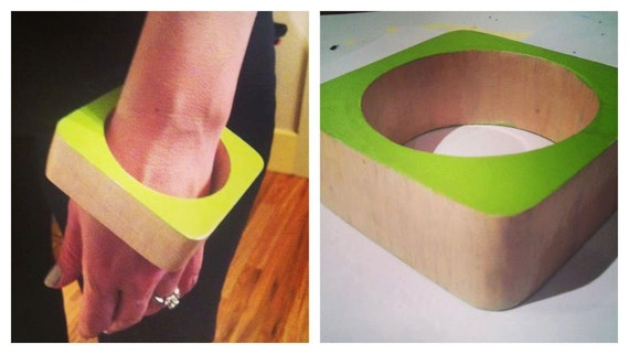 Neon & Nude Square Bangle