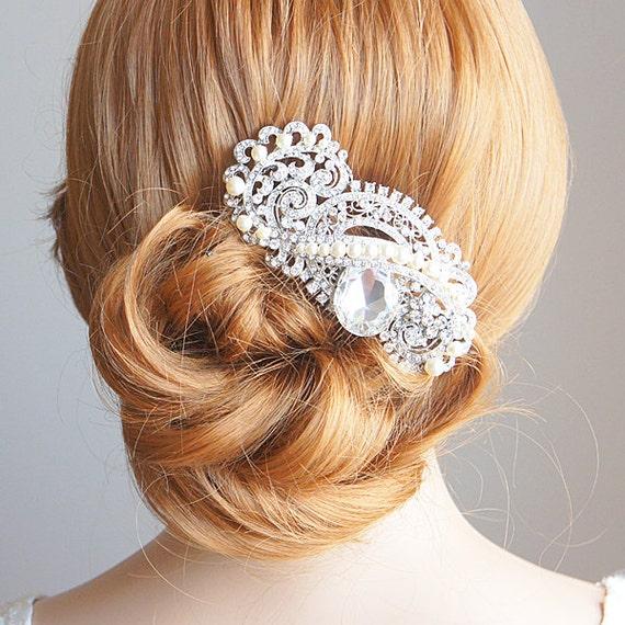 Victorian Style Wedding Hair: Items Similar To KARA, Eye-Catching Bridal Hair Comb