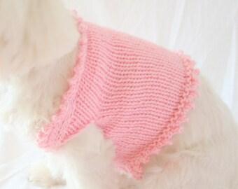 PDF DIGITAL PATTERN:Dog Sweater Pattern,Small Dog Clothes,Knit Dog Sweater Pattern,Small Dog Sweater,Pink Dog Sweater Knitting Pattern