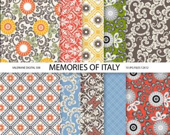 Classic Italian Digital paper, scrapbook paper, 10 jpg 12x12 -INSTANT DOWNLOAD Pack 508
