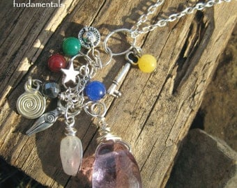 elemental Goddess necklace; pagan, witch, wicca, witchcraft, wiccan, ritual, occult, magic, magick, amethyst, luck, protection, spiritual