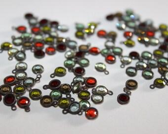 5 Vintage Swarovski Color Crystals