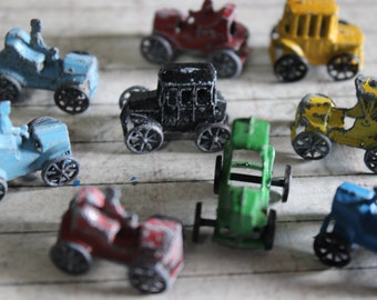 1 Vintage Miniature Metal Antique Car Toy