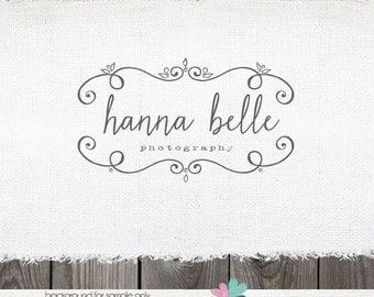 Logo Design | Hand Drawn Swirl Frame | Photography Logo | Photography Watermark | Logo for Photographer | Premade Logo Design | Logo Design