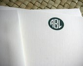 Personalized Stationery - Men's or Unisex Monogrammed Stationery