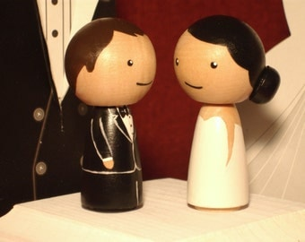 Special Purchase Custom Kokeshi Wedding Cake Topper Kokeshi Doll Wedding Toppers Custom Cake Toppers
