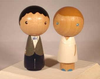 Custom Kokeshi Wedding Cake Topper Kokeshi Doll Wedding Toppers Custom Cake Toppers