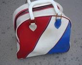Vintage Bowling Bag Tote