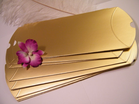Large Gold Favor Boxes : Gold pillow favor boxes diy wedding favors large