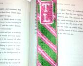 Needlepoint Kit, Monogrammed Bookmark