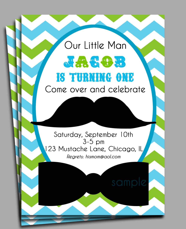 Mustache Invite as best invitation example