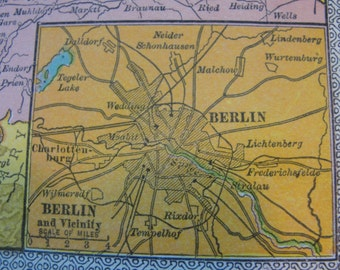 Map Western Germany Vintage 1911