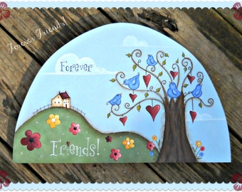 E PATTERN - Forever Friends - Hearts, birds, flowers - Inspired by Terrye French, Painted by Sharon Bond - FAAP