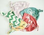 Organic Knotty Hat Mixed Set of Three Newborn Size 0-6 months