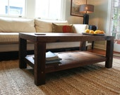 Oversized Coffee Table Made From New Orleans Barge Board and Reclaimed Wood