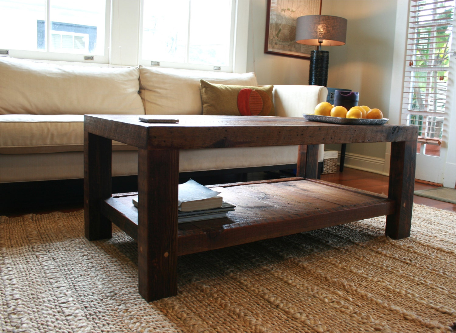 ... New Orleans Barge Board and Reclaimed Wood. 🔎zoom - Oversized Coffee Table Made From New Orleans Barge Board And