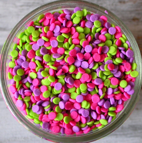 Cake Pop Decorating Sprinkles : Sprinkles 3 oz Neon Mini Sequins Confetti Quins for