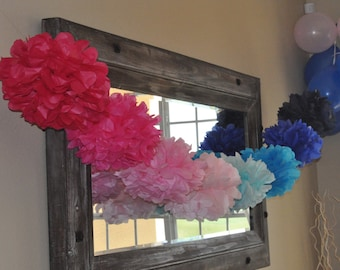 8 tissue poms- Gender Reveal Party