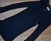Black Crochet Vintage Overlay