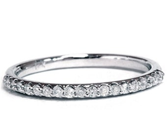 Diamond Wedding Ring 14K White Gold
