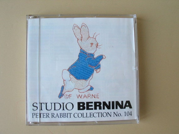 Studio Bernina Machine Embroidery Card 104 Peter Rabbit