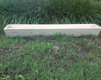 "42"" window box cypress wooden planter flower new wood slant front"