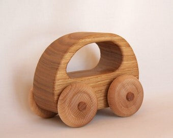 Wooden Toy Car Chestnut wood