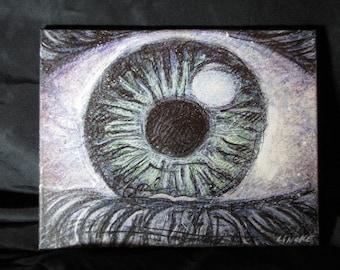 Eyeball, Original Painting on Canvas