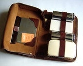Mens English Vintage 1930s 1940s Toiletries Travel Grooming Case
