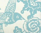 Cotton Fabric by Thomas Paul for Duralee in Pattern Aviary in Color Robin