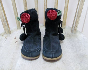 Red Rose Shoe Clips, Rose Accessory