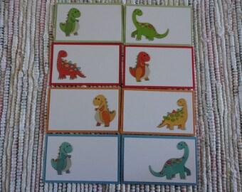 Dinosaur tags  Set 0f 8