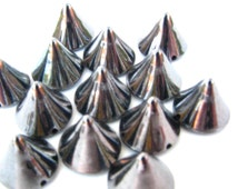 50 Extra Small Dark Gunmetal Spike Beads - 5mm - Great For Studding Clothes and Shoes