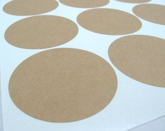 Kraft Circle Labels, 2 Inch Circle Stickers - Set of 40